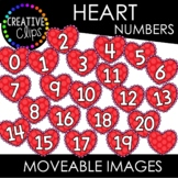 Moveable Heart Numbers 0-20 (Valentine Moveable Numbers)
