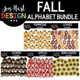 Fall Alphabet Letters Clipart Bundle - Jen Hart Design