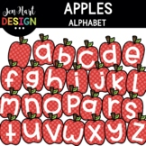 Moveable Images Clipart - Fall Apples Alphabet Clipart {Je
