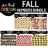 Moveable Images Clipart - Fall Numbers Clipart {Jen Hart Clipart}