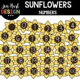 Moveable Images Clipart - Fall Sunflowers Alphabet Clipart