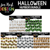 Moveable Images Clipart - Halloween Numbers Clipart {Jen H
