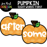 Moveable Images Clipart - Pumpkin Sight Words First {Jen H