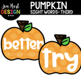Moveable Images Clipart - Pumpkin Sight Words Third {Jen H