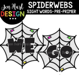 Moveable Images Clipart - Spiderwebs Sight Words Pre-Prime