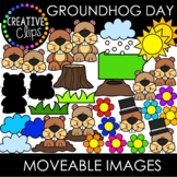 Moveable Images: GROUNDHOG DAY {Creative Clips Clipart}