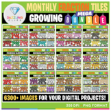 Moveable Images Monthly Fraction Tiles MEGA Bundle - 6336 Images!