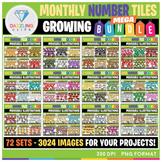 Moveable Images: Monthly Number Tiles MEGA Bundle - 2952 Images!
