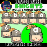 Moveable LETTER TILES: KNIGHTS - FANTASY THEMED (English &