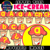 Moveable LETTERS: ICE-CREAM CONES (English & Spanish)
