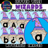 Moveable LETTER TILES: WIZARDS - FANTASY THEMED (English &