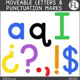 Moveable Letters & Punctuation Marks:  PRIMARY COLORS