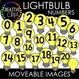 Moveable Light Bulb Numbers 0-20 (School Moveable Images)