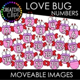 Moveable Love Bug Numbers 0-20 (Valentine Moveable Numbers)