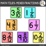 Moveable Math Tiles for MIXED FRACTIONS: Pastel Colors