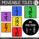 Moveable FRACTION Tiles: Primary Colors