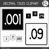 Moveable DECIMAL Tiles: Black & White