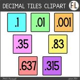 Moveable DECIMAL Tiles: Pastel Colors
