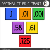 Moveable DECIMAL Tiles: Primary Colors