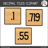 Moveable DECIMAL Tiles: Wooden