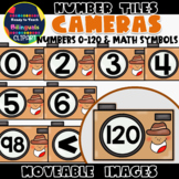 Moveable NUMBER TILES (0-120): CAMERAS