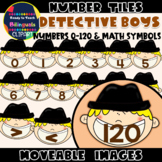 Moveable NUMBER TILES (0-120): DETECTIVE BOYS
