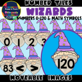 Moveable NUMBER TILES (0-120): WIZARDS (FANTASY THEMED)