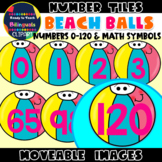 Moveable NUMBERS (0-120): BEACH BALLS