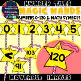 Moveable NUMBERS (0-120): MAGIC WANDS (FANTASY THEMED)