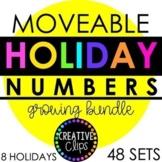 Moveable Numbers: HOLIDAY MEGA BUNDLE (48 Moveable Image Sets)