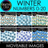 Moveable Numbers: WINTER Numbers Bundle (6 Moveable Image Sets)