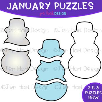 Moveable Piece Clip Art -January Puzzles Pieces {jen hart Clip Art}
