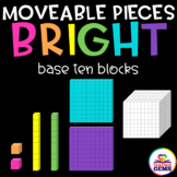 Moveable Pieces Base Ten Blocks Clipart
