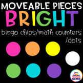 Moveable Pieces Math Counters/ Bingo Chips /Dots Clipart