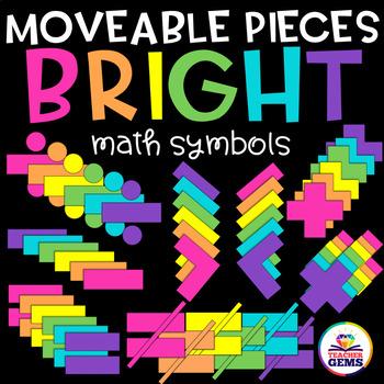 Moveable Pieces Math Symbols Clipart