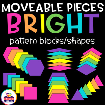 Moveable Pieces Pattern Blocks Clipart