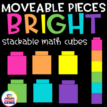Moveable Pieces Math Cubes Clipart