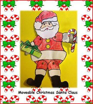 Moveable Santa Christmas Art Project