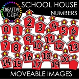 Moveable School House Numbers 0-20 (School Moveable Images)