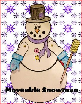 Moveable Snowman Art Project