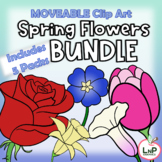 Moveable Spring Flowers Bundle for Digital Resources and T