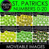 Moveable St. Patrick's Day Numbers Bundle (6 Moveable Image Sets)