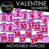 Moveable Valentine Card Numbers 0-20 (Valentine Moveable Numbers)