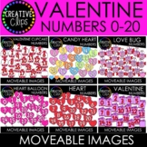 Moveable Valentine Numbers Bundle (6 Moveable Image Sets)