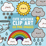 Movable Weather Clip Art for Commercial Use, Faceless Vers