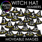 Moveable Witch Hat Numbers 0-20 (Halloween Moveable Images)