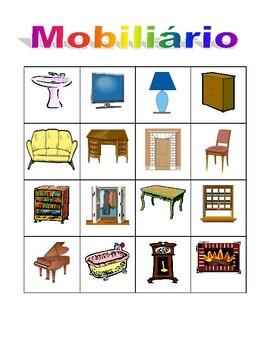 Móveis (Furniture in Portuguese) Bingo game