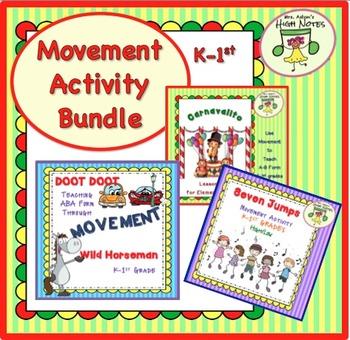 Movement Activity & Lesson Plan Bundle, K-1st