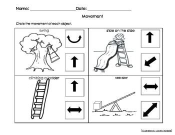 Movement Activity Worksheet Eng and Spanish Cscope Common Core