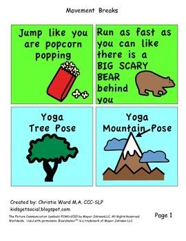 Movement Break Activity- Kid Favorites!